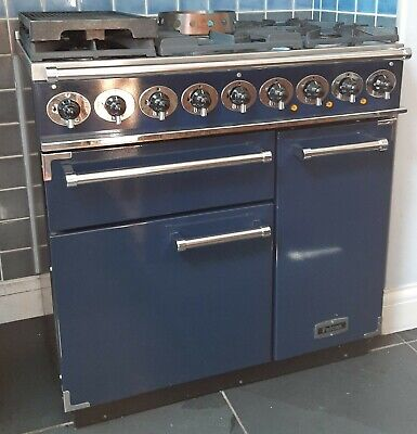 £600 • Buy Falcon Range Cooker & Extractor 5 Rings Blue And Chrome