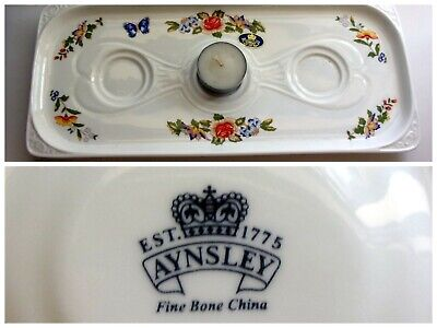 £18 • Buy Aynsley Rare  Cottage  Garden  3 Tealight Candle Holder Tray New