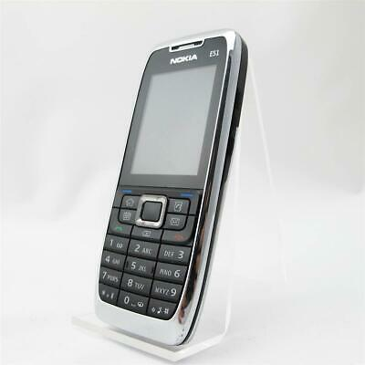 £43.12 • Buy Nokia E51 Silver Buttons Phone Without Simlock Contract Acceptable Condition