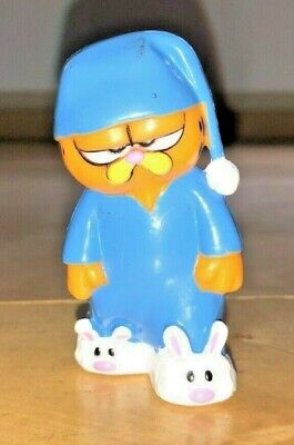£18.18 • Buy Garfield Cat With Blue Pajamas And Whitew Bunny Slippers 2.5  PVC Toy Figure