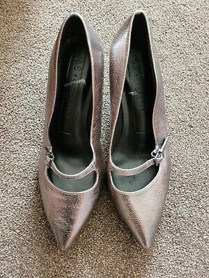 £9 • Buy Marks And Spencer Pewter Wide Fit Shoes Size 4