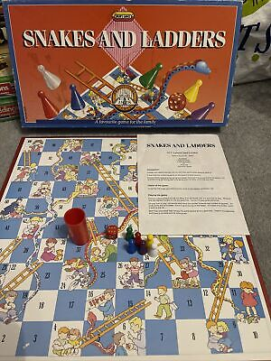 £13 • Buy Vintage Snakes And Ladders Board Game Spears Games Rare Retro Complete VGC