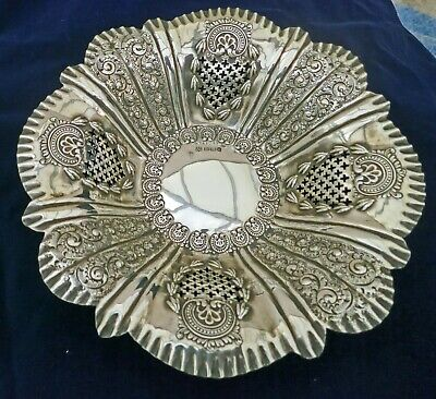£145 • Buy **VERY ORNATE Antique 1894 Sterling Silver Fruit DISH Sheffield Cooper Brothers