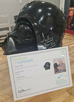 £285 • Buy Darth Vader Signed Helmet By David  Prowse With Letter Of Authenticity.