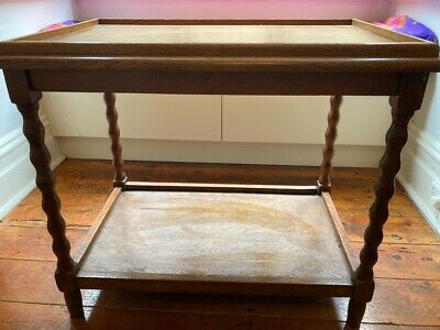 AU30 • Buy Antique Brown Wooden Side Table/bar Table