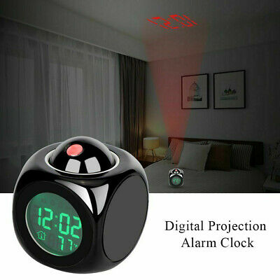 £8.55 • Buy Projection Wall Home Projector Time With LCD Display Snooze Ceiling Alarm Clock