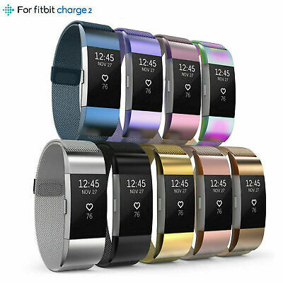 AU12.45 • Buy Compatible Fitbit Charge 2 Strap Replacement Milanese Band Metal Milanese Belt