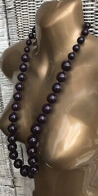 £12 • Buy Long Chunky Statement Beads Necklace 80s Retro Goth Hippie Flapper Grunge Indie