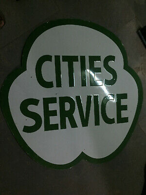 $ CDN1.25 • Buy Porcelain Cities Service Enamel Sign Size 36  Inches Double Sided