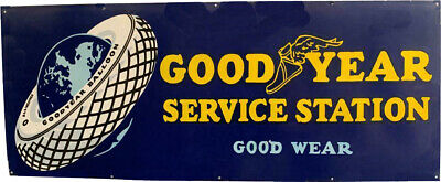 $ CDN1.25 • Buy Porcelain Goodyear Service Station Enamel Sign Size 60  X 24  Inches