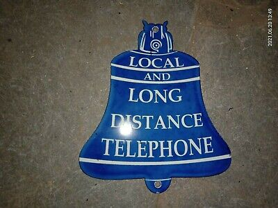 $ CDN8.12 • Buy Porcelain Long Distance Telephone Enamel Sign Size 7  X 6  Inches