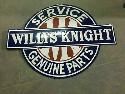 $ CDN1.25 • Buy Porcelain Willys Knight Enamel Sign Size 36  X 27  Inches Double Sided