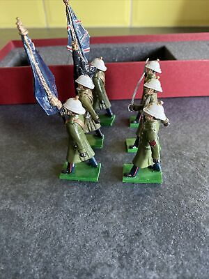 £26 • Buy British Toy Soldier Company  Royal Marines In Greatcoats Colour Party / Britains