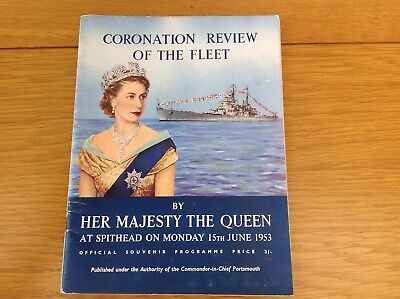£10 • Buy June 1953. Coronation Review Of The Fleet, Souvenir Programme,by Her Majesty