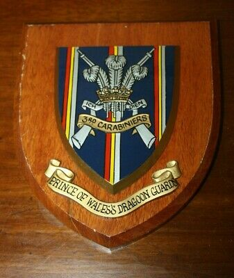 £49.80 • Buy 3rd Carabiniers (Prince Of Wales's Dragoon Guards) Wooden Shield Wall Plaque