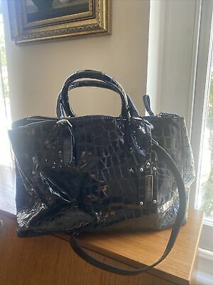 £35 • Buy Large Russel And Bromley Croc Patent Leather Bag