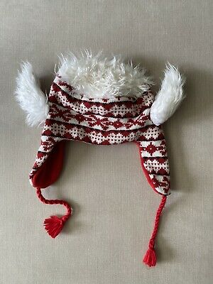 £0.99 • Buy Novelty Red Ski Hat With Hair And Horns