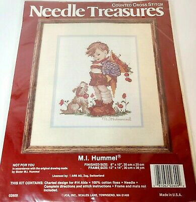 £8.03 • Buy Needle Treasures Counted Cross Stitch M.I. Hummel  Not For You  Kit Made In USA