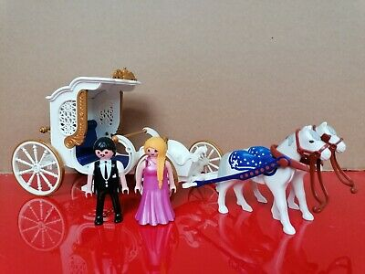 £10 • Buy Playmobil Royal Carriage Wedding Cart Horse Equestrian Country