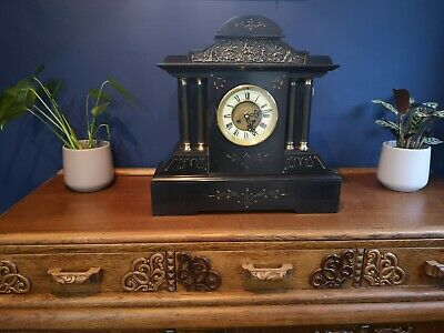 £375 • Buy Antique Ansonia Mantle Clock, Late 19th C.  - Slate And Metal.