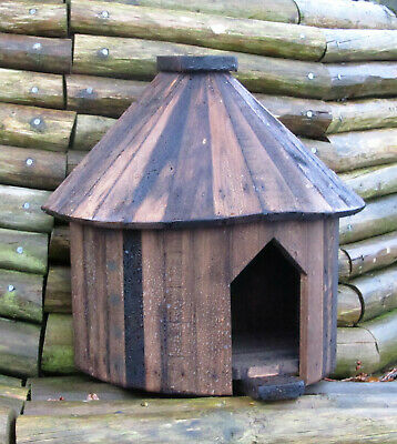£60 • Buy Half Round Dovecote, Dove Cote For One Pair, Rustic Solid Timber. Brown