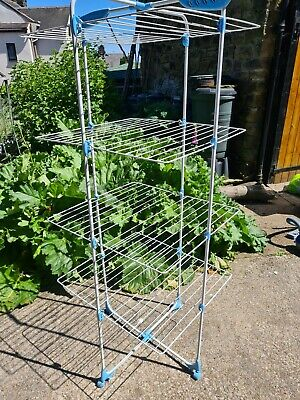 £5 • Buy Minky Tower Indoor Airer 40m Drying Space - Silver