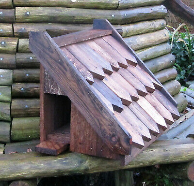 £48 • Buy Dovecote, Dove Cote For 1 Pair. Wall Mounted. Rustic Solid Timber. Shingle Roof.
