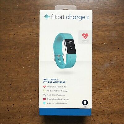 $ CDN163.64 • Buy New & Sealed Fitbit Charge 2 Heart Rate Activity Tracker Wristband Teal (Small)