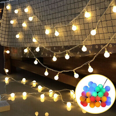 £7.18 • Buy 80 LED Bulb Fairy String Light LED Ball Battery Operated Lights Party Home Decor