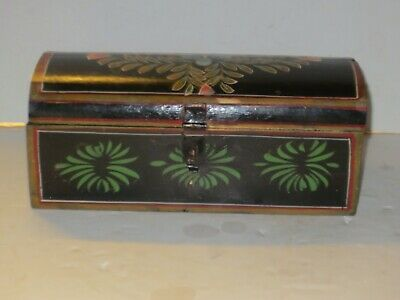 $ CDN62.88 • Buy Early American Antique Style Wooden Domed Box With Painted Designs, Signed?