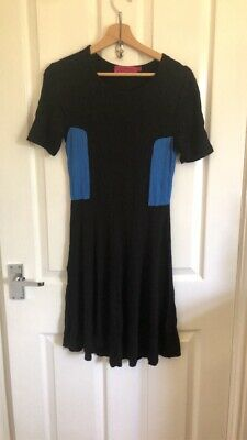 £0.99 • Buy Womens Black & Blue Size 10 Skater Dress From Boohoo Work/casual/wedding/office