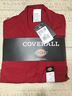 $32.99 • Buy NEW Dickies COVERALLS Mens Short Sleeve 3399RD RED Size: L