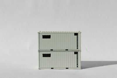 $25.16 • Buy JTC Model Trains 205454 N USAU 20' Container (Pack Of 2) Gray Military New