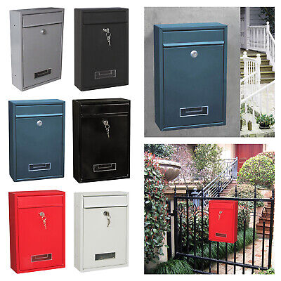 $51.79 • Buy Locking Mailbox Mail Mail Box Metal Home Office Secure Letterbox Drop Box