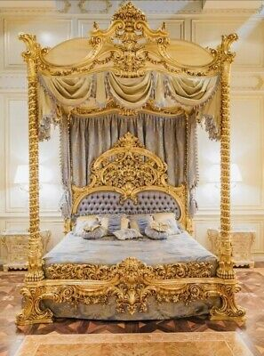 £10000 • Buy Baroque/ Rococo Style Luxury King Size Canopy Bed