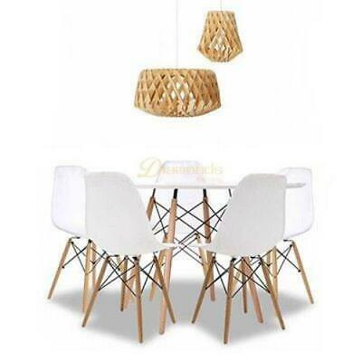AU249 • Buy Simple Round Dining Table Set(4 Chairs)