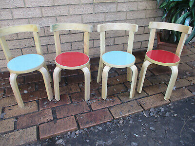 AU5 • Buy 4 X Child's Classic Round Back Chairs.  Hardly Used. Top Condition