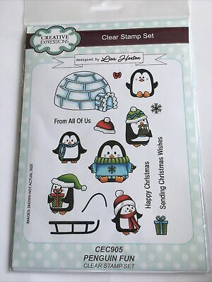 £7.50 • Buy CREATIVE EXPRESSIONS A5 Clear Stamp Set PENGUIN FUN CEC905 Lisa Horton Christmas
