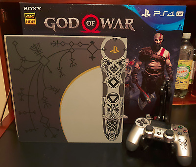 AU650 • Buy PS4 Pro GOD OF WAR Rare Console *Limited Edition* 1TB Sony Playstation 4