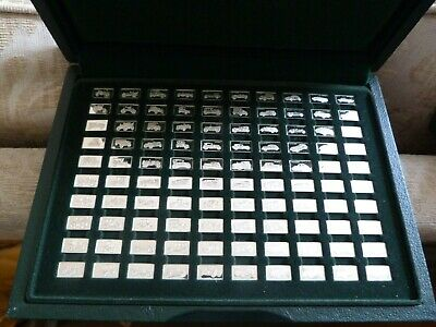 £199.99 • Buy 100 Silver Ingots Cars In Display Case By John Pinches