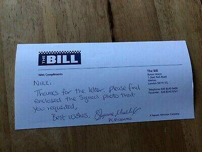 £4.99 • Buy Suzanne Maddock The Bill Casualty Inscribed Signed Compliment Slip/autograph