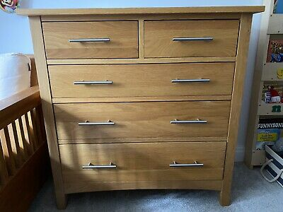 £98 • Buy Solid Oak Chest Of Drawers (5 Drawers)