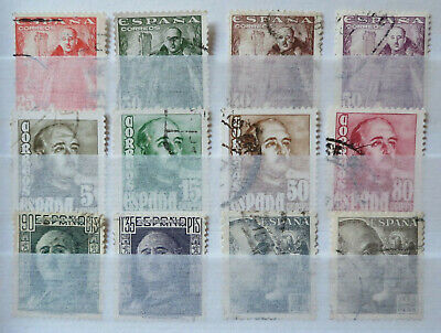 £1.99 • Buy LOT OF 12 SPANISH STAMPS 1940s EARLY GENERAL FRANCO SPAIN