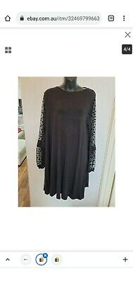 AU21.53 • Buy Gorgeous ASOS Swing Style Shift DRESS With Lace Sleeves - Sz  16