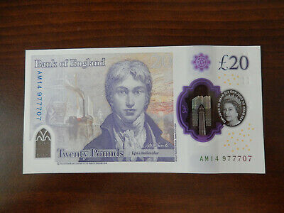 £18.39 • Buy New £ 20 Pound Note Lucky 777 Number UNC