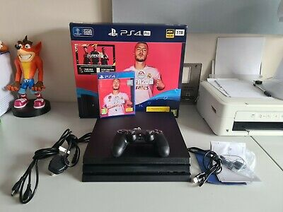 AU373.61 • Buy Sony Playstation 4 PS4 Pro 1TB Black Console Boxed With Sealed FIFA 20 Game