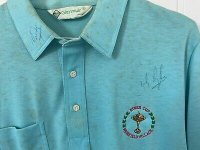 £1000 • Buy Sandy Lyle 1987 Ryder Cup T-shirt. Signed By Seve Ballesteros And Sandy Lyle