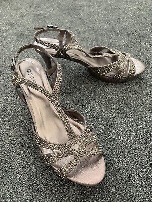 £7.99 • Buy Paver Sparkly Pewter Shoes 6