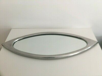 £75 • Buy Vintage - 90s Heals Eye-Shaped Aluminium Framed Mirror. Excellent Condition.