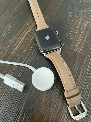 $ CDN169.93 • Buy Apple Watch Series 3 Nike 38mm Space Gray With Ladies Brown Band Model A1858